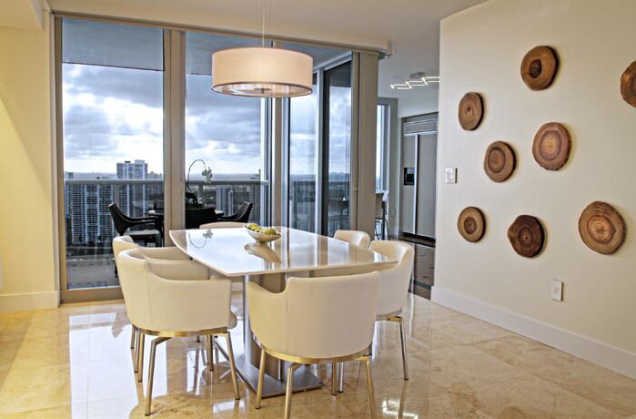 Contemporary Dining Room photo by Interiors by Maite