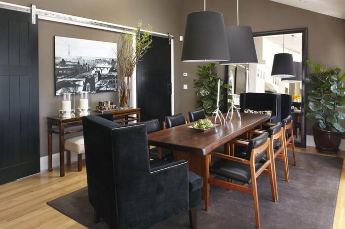 Contemporary Dining Room photo by Urrutia Design
