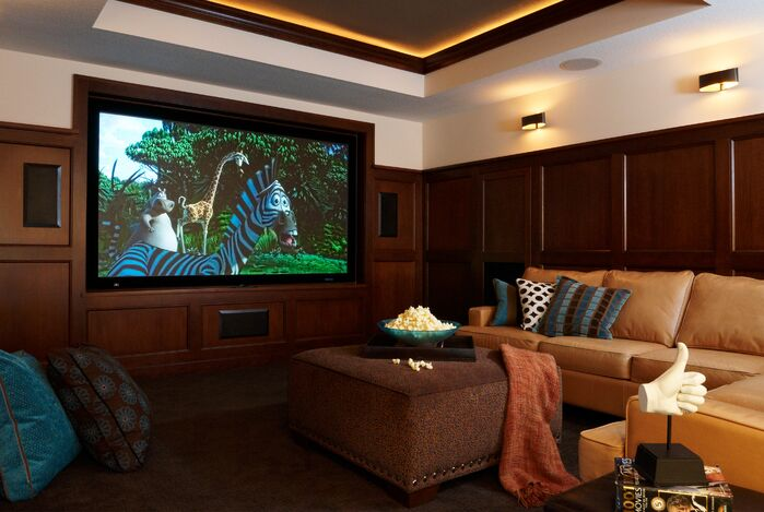 Contemporary Game/Rec Room photo by Marceau Interiors
