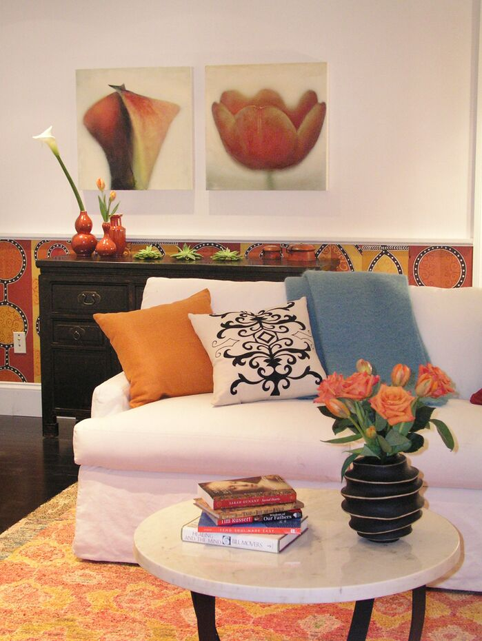 Eclectic Living Room photo by Heidi Gerquest Design