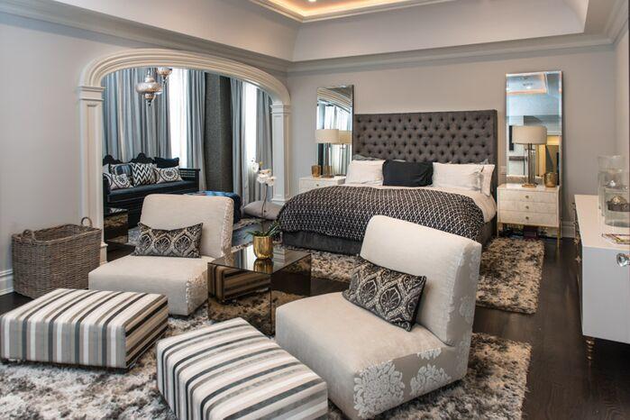 Glam Bedroom photo by Vanessa Deleon Associates