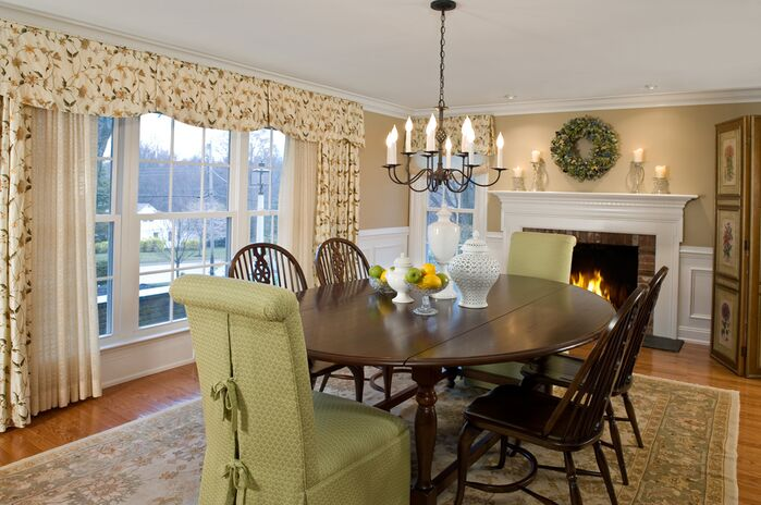 Traditional Dining Room photo by Lisa Furey Interiors