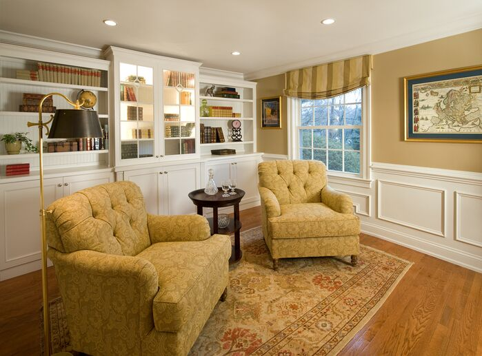 Traditional Living Room photo by Lisa Furey Interiors