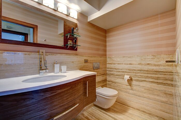 Modern Bathroom photo by Frank Pizzurro Architects PC