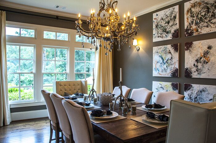 Dining room glam photos design ideas pictures for Glam dining room ideas