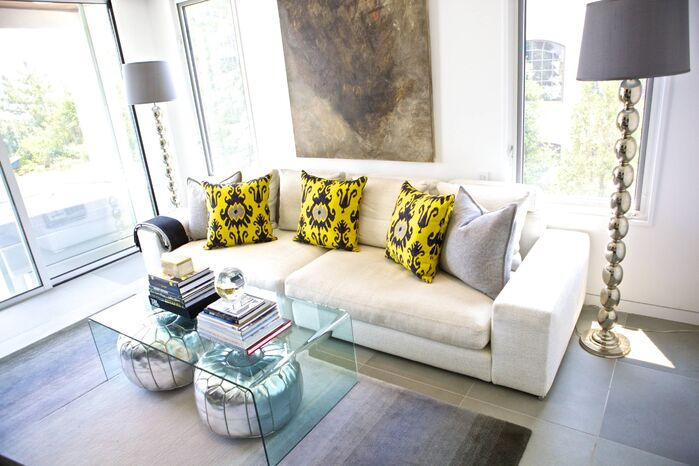 Contemporary Living Room photo by Sam Allen Interiors