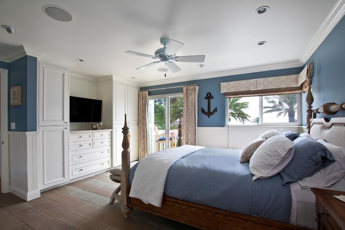 Coastal Bedroom photo by Beth Whitlinger Interior Design