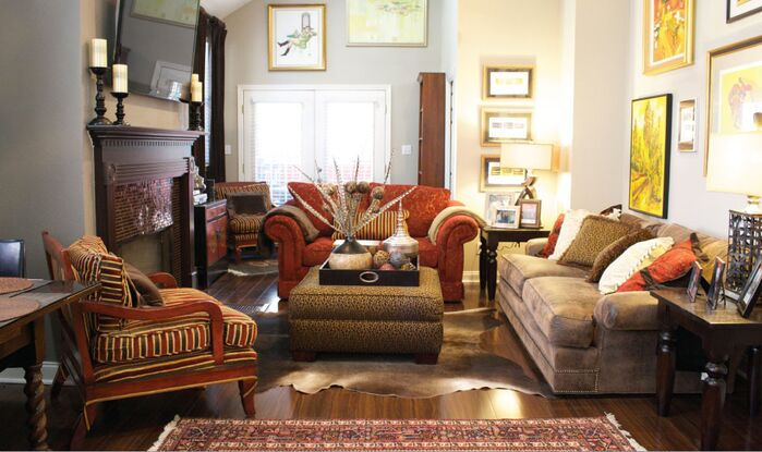 Traditional Living Room photo by Esther LaVonne Design