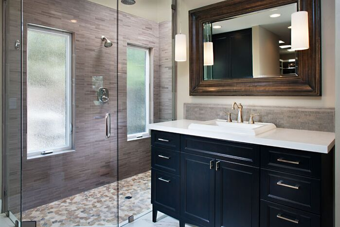 Contemporary Bathroom photo by Style On a Shoestring