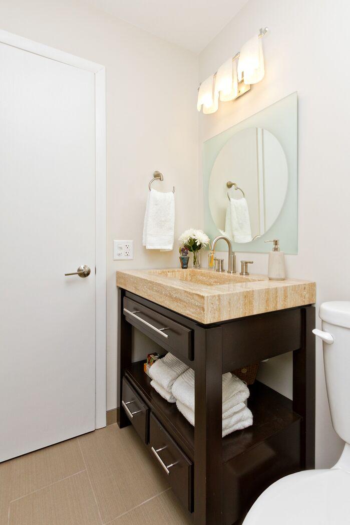 Contemporary Bathroom photo by Alison Besikof Custom Designs
