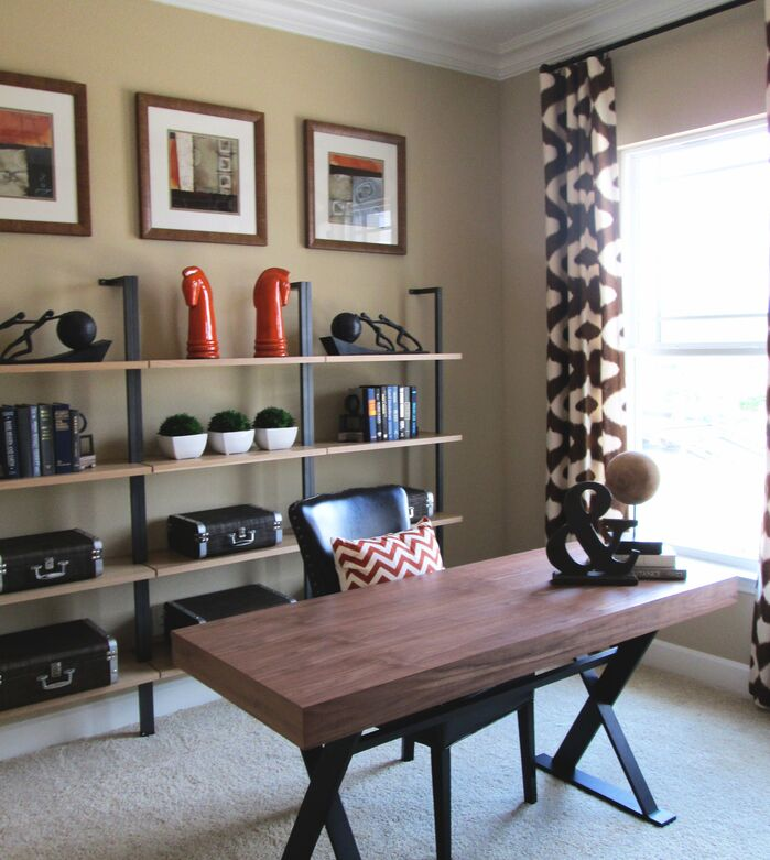 Contemporary Home Office photo by Masterpiece Interiors, Inc.