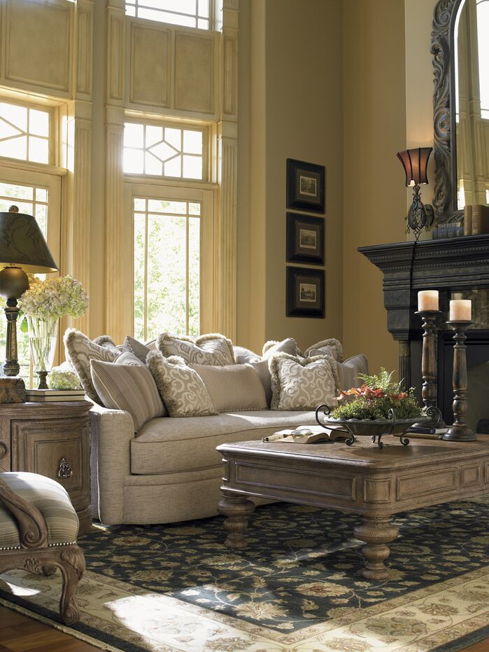 Traditional Living Room photo by Wayfair
