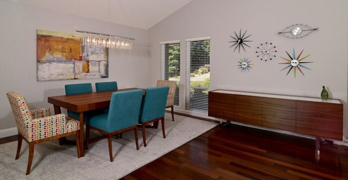 Modern Dining Room photo by Kerrie Kelly Design Lab