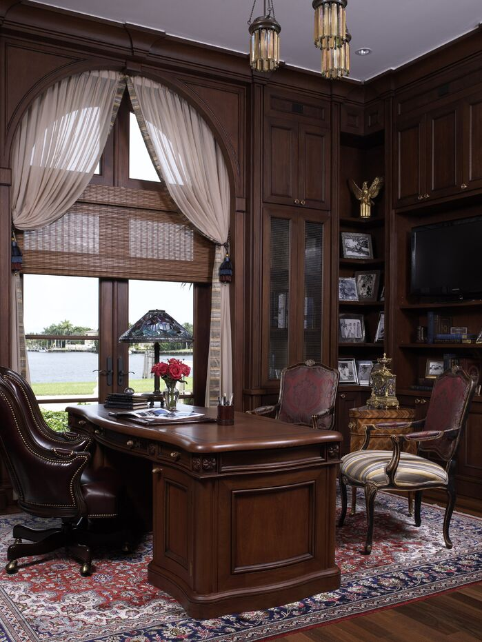 Traditional Home Office photo by B. Pila Design Studio