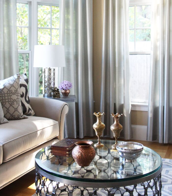 Glam Living Room photo by Victoria Elizabeth Design