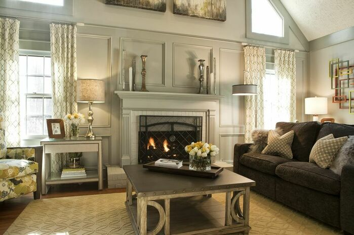 Contemporary Living Room photo by Kandrac & Kole Interior Designs