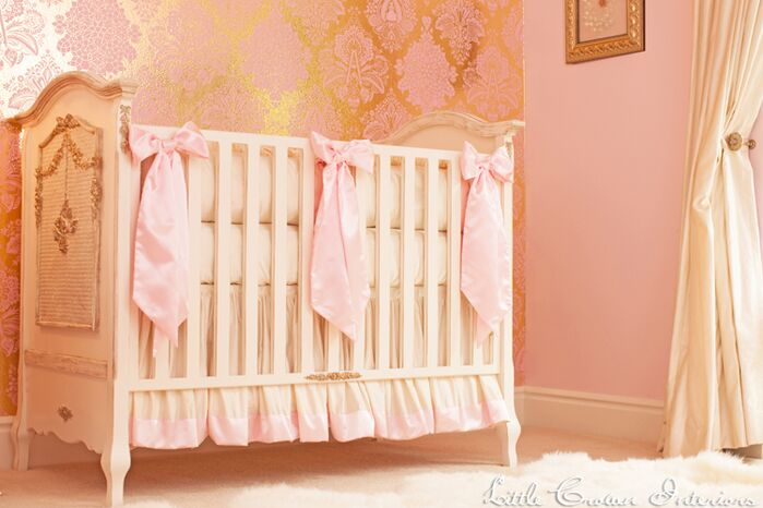 Glam Nursery photo by Little Crown Interiors