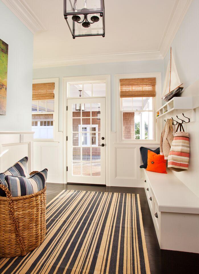Coastal Laundry/Mud Room photo by Garrison Hullinger Interior Design