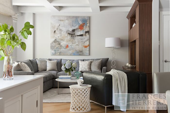 Contemporary Living Room photo by Frances Herrera Interior Design
