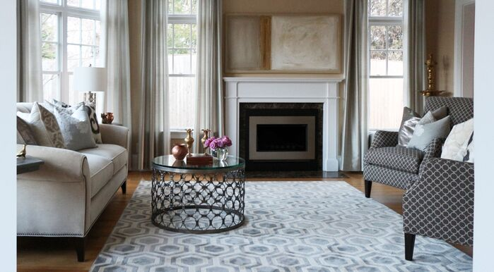 Traditional Living Room photo by Victoria Elizabeth Design