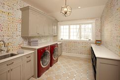 Contemporary Laundry/Mud room photo by Hendel Homes