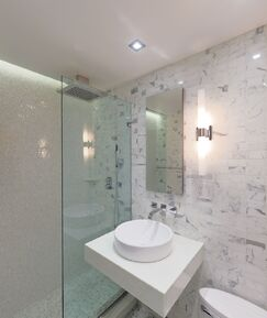 Contemporary Bathroom photo by Frank Pizzurro Architects PC