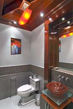 Bathroom photo by ALX Interiors