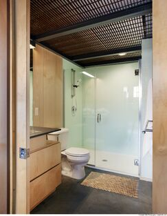 Industrial Bathroom photo by Fitzsimmons Architects
