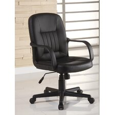 <strong>Innovex</strong> High-Back Leather Office Chair