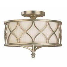 Fifth Avenue 3 Light Semi Flush Mount