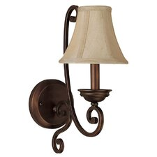 <strong>Capital Lighting</strong> Cumberland 1 Light Wall Sconce with Shade