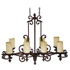 Mediterranean 8 Light Chandelier