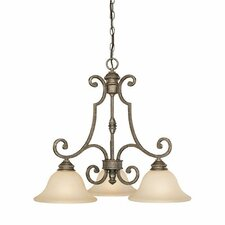 <strong>Capital Lighting</strong> Barclay 3 Light Chandelier Pendant