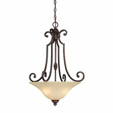<strong>Capital Lighting</strong> Barclay 3 Light Inverted Pendant