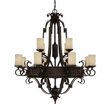 River Crest 12 Light Chandelier