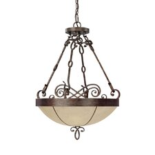 <strong>Capital Lighting</strong> Reserve 3 Light Inverted Pendant