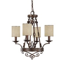 <strong>Capital Lighting</strong> Reserve 4 Light Chandelier