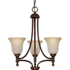 Metropolitan 3 Light Energy Star Chandelier with Mist Scavo Shade