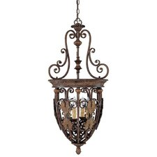 <strong>Capital Lighting</strong> Forrest Lake 4 Light Foyer Pendant