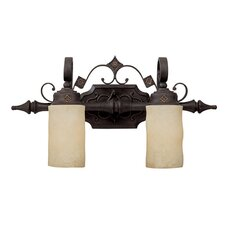 River Crest 2 Light Bath Vanity Light