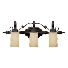 River Crest 3 Light Bath Vanity Light