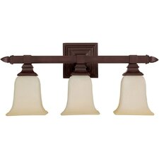 Mediterranean 3 Light Bath Vanity Light
