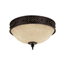 River Crest 2 Light Flush Mount
