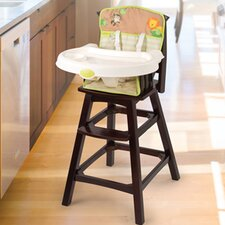 Swingin Safari Wood High Chair