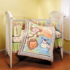 4 Piece Monkey Jungle Nursery Crib Bedding Set