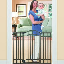 <strong>Summer Infant</strong> Stylish and Secure Extra Tall Decorative Walk-Thru Metal