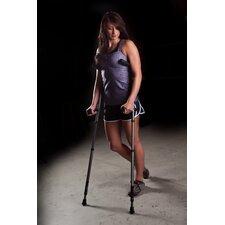 2 Piece In-Motion Pro Underarm Extended Tall Ergonomic Folding Crutch