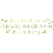 <strong>Alphabet Garden Designs</strong> Butterfly Kisses Vinyl Wall Decal