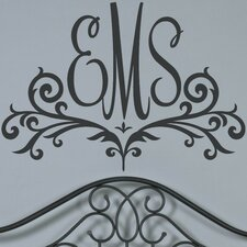 Scroll Monogram Wall Decal