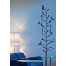 <strong>Alphabet Garden Designs</strong> Stick Tree with Birds Vinyl Wall Decal